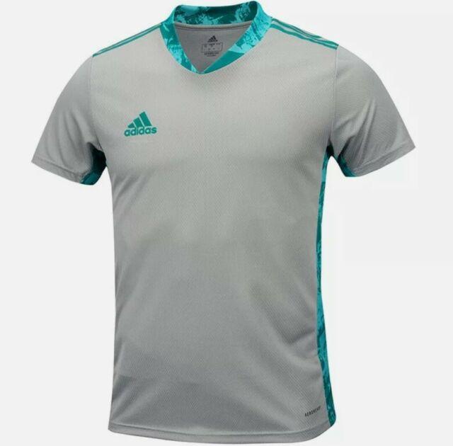 adidas Men Adi-pro 20 Goalkeeper Soccer Gray GK Football Jersey ...