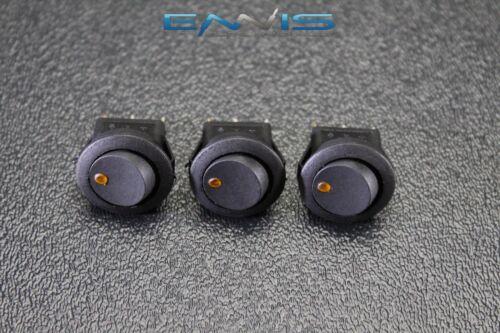 20 PCS ROUND ROCKER SWITCH 3//4 HOLE 16 AMP 12V 3 PIN ORANGE LED TOGGLE IBRRSO