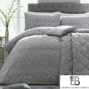 Laurence-Llewelyn-Bowen-Silver-Grey-Duvet-Cover-Bedding-Set-Designer-Throw