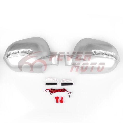 Silver Mirror Cover w//Amber LED Signal Blinker For MERCEDES W163 ML320 ML430 FM