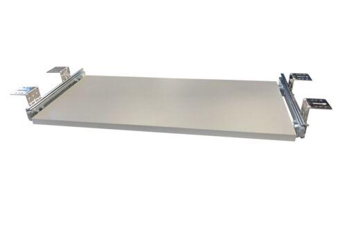 Tastaturauszug  Alu grau 60x40 cm Nutzhöhe 47mm Schublade Auszug für Tastatur
