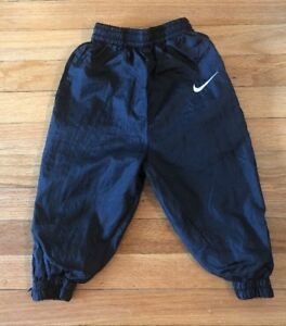 special sales wide varieties casual shoes Details about Vintage 90s Nike Boys Toddler Windbreaker Pants Black Pockets  Zip Vtg size 2T