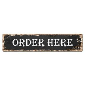 SP0822-ORDER-HERE-Street-Sign-Bar-Store-Shop-Cafe-Home-Chic-Decor