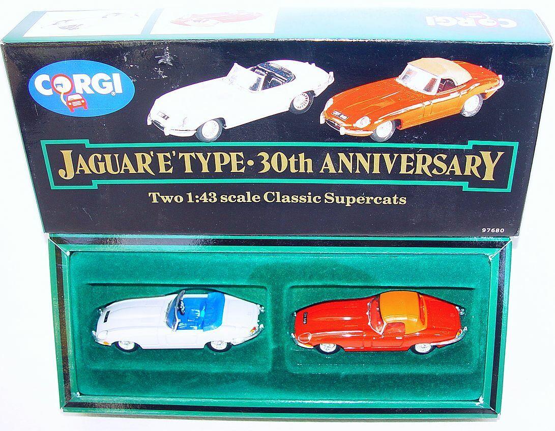 Corgi Toys 1 43  30th ANNIVERSARY  JAGUAR E-TYPE 2 Car Gift Set MIB`91 TOP RARE