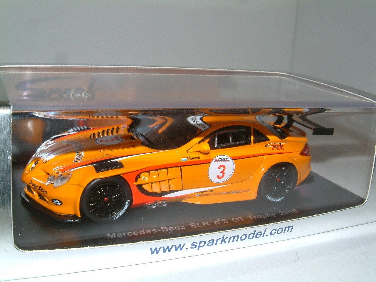1 43 Spark Mercedes Benz SLR 2008 GT Trophy  3 Klaas Hummel S1026