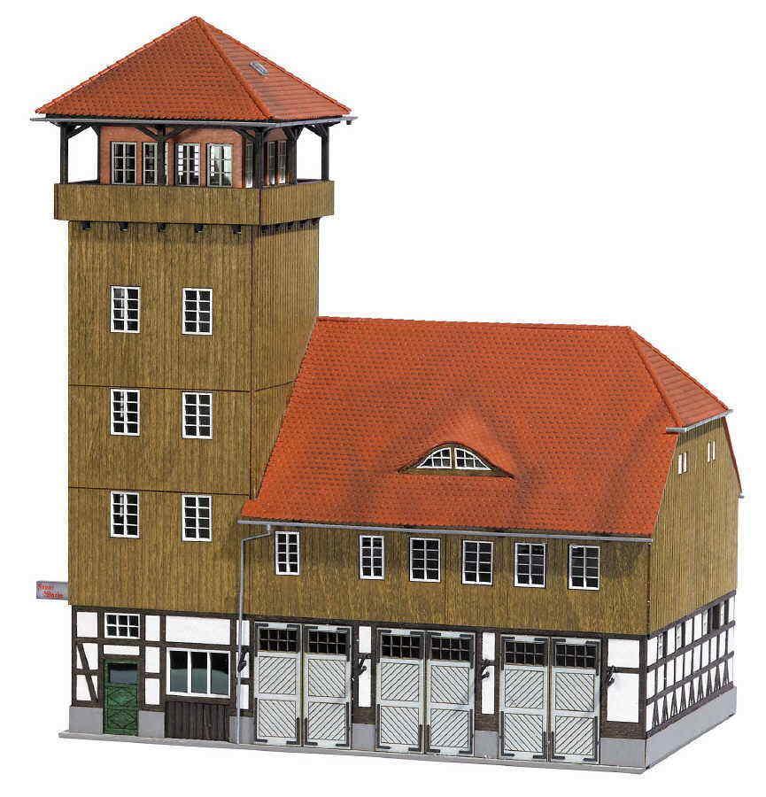 Busch 1450 vigili del fuoco Schwenningen vero legno Nuovo Scatola Originale