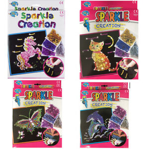 Art-Sequin-Kids-Craft-Kit-Girl-Sparkle-Paillette-Creative-Fun-Activity-Creation