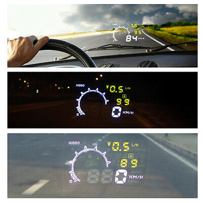 5.5inch Car HUD Head Up Display Speedometer Safety OBDII Interface Plug and Play