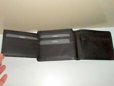 MILLENI Mens Bifold Tab Genuine Leather Wallet//note ID zip coin card Holder New