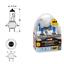 58186-CP-LAMPADINE-LAMPADE-H7-XENON-PILOT-12V-55W-EFFETTO-BIANCO-4500K-AUTO-MOTO miniature 1