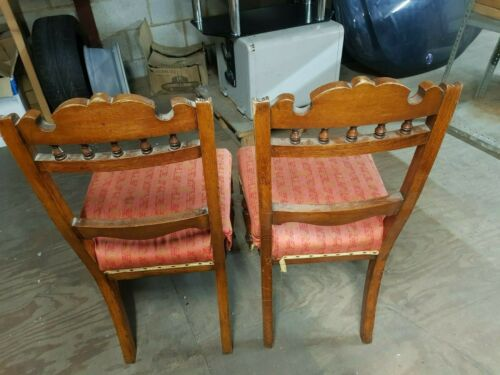 Pair of Vintage Retro Kitchen Wooden Dining Chairs