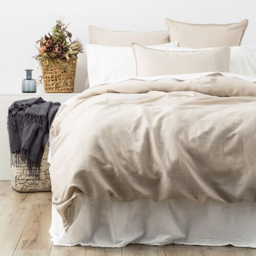 King Renee Taylor Cavallo 100/% French Linen Quilt Cover set