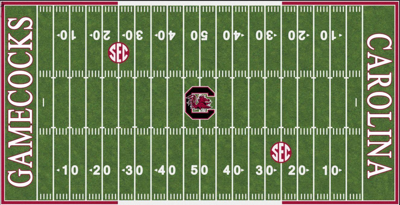 South Carolina Gamecocks cubierta de campo eléctrico de fútbol Vinilo Parojo Arte