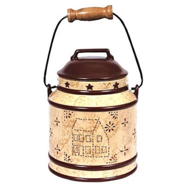 Blonder Home Linda Spivey Punched Tin Country Kitchen Medium Canister