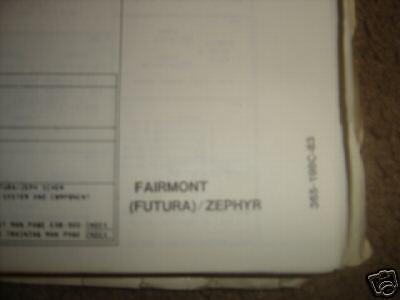 1983 Ford Fairmont/Zephyr Wiring Diagrams | eBay