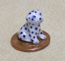 1:12 Scale Small Light Brown Ceramic Puppy Dog Tumdee Dolls House Ornament E