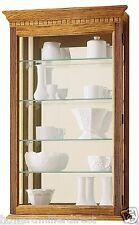 Howard Miller 685 106 Montreal   Golden Oak Wall Hanging Curio Collector  Cabinet