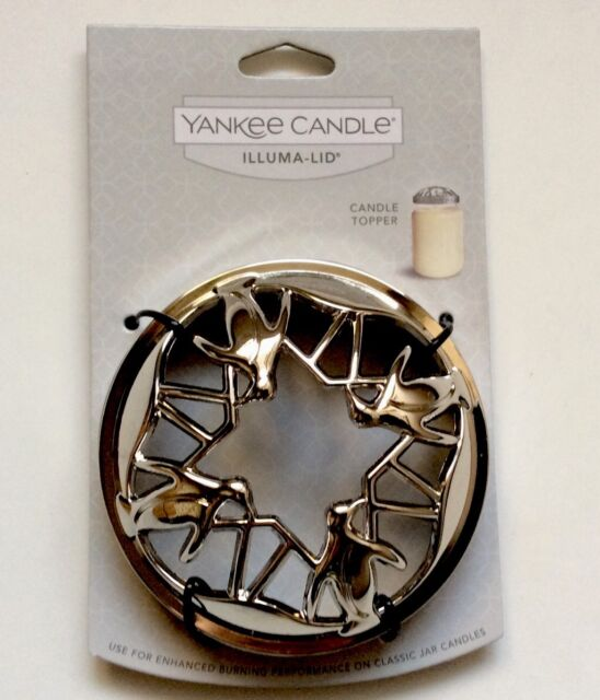 YANKEE CANDLE Silver Scroll Illuma Lid Illumalid Jar Candle Topper NEW