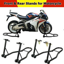 New Motorcycle Stand Front Rear Swingarm Lift Head Front Forklift Auto Bike Shop