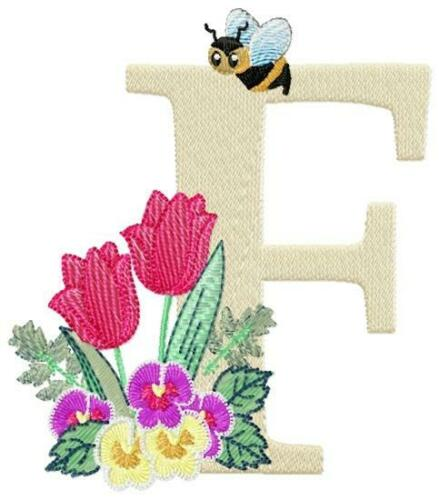 BUZZ ALPHABET 26 10 MACHINE EMBROIDERY DESIGNS CD or USB
