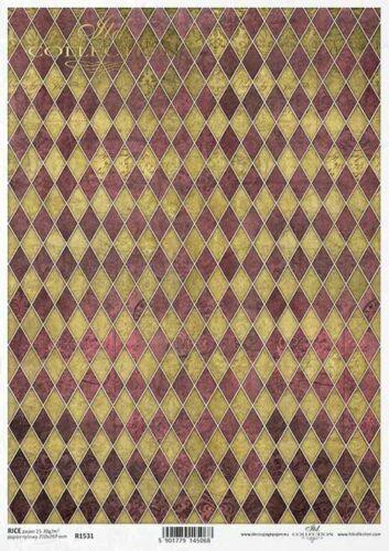 Papier de riz-Motif Paille soie-Decoupage-Serviettes Technique-Vintage-Shabby-r1531