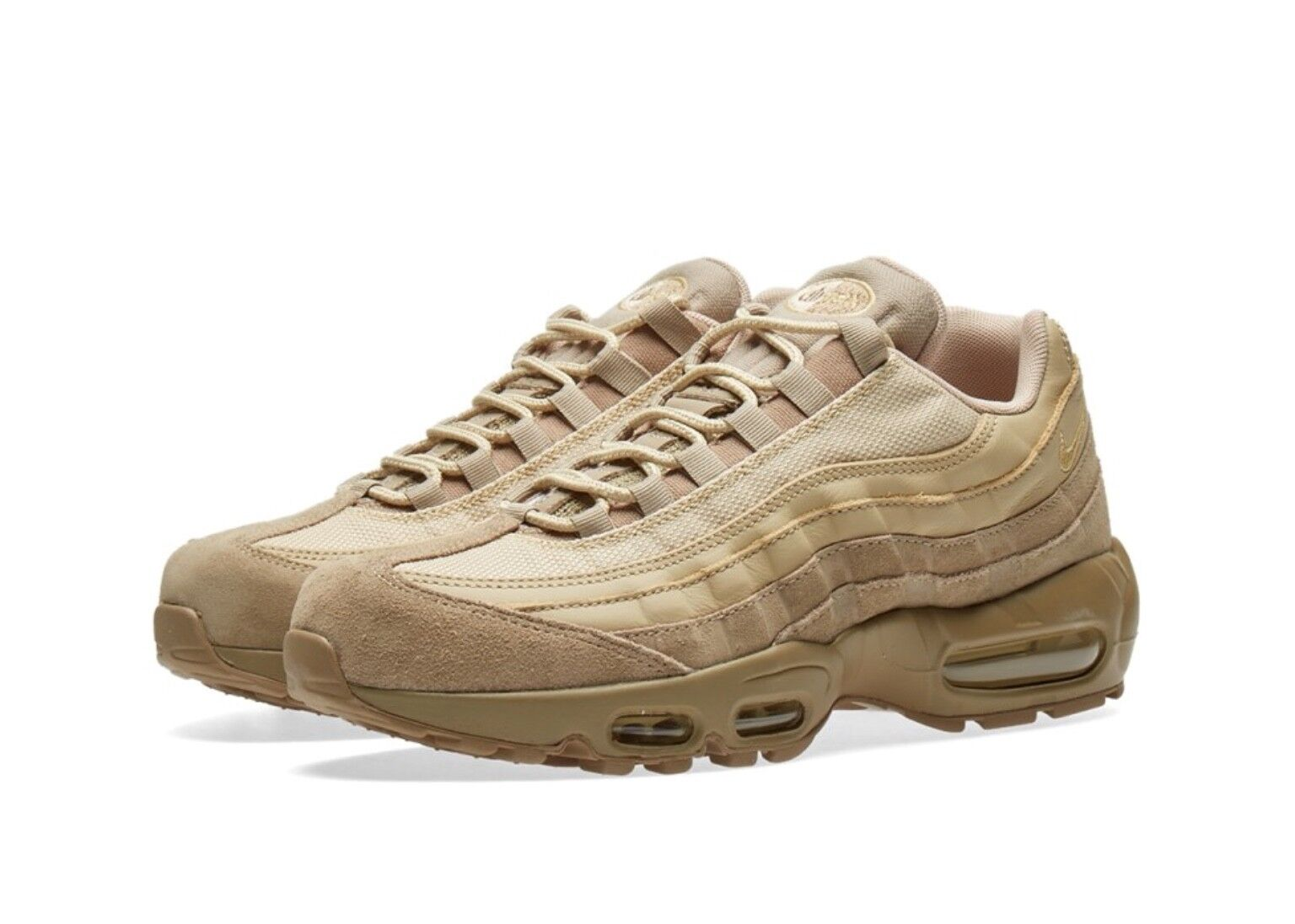 NIKE AIR MAX 95 PREMIUM 538416-202 Khaki Gold BNIB no lid UK6.5/EU40.5/US7.5