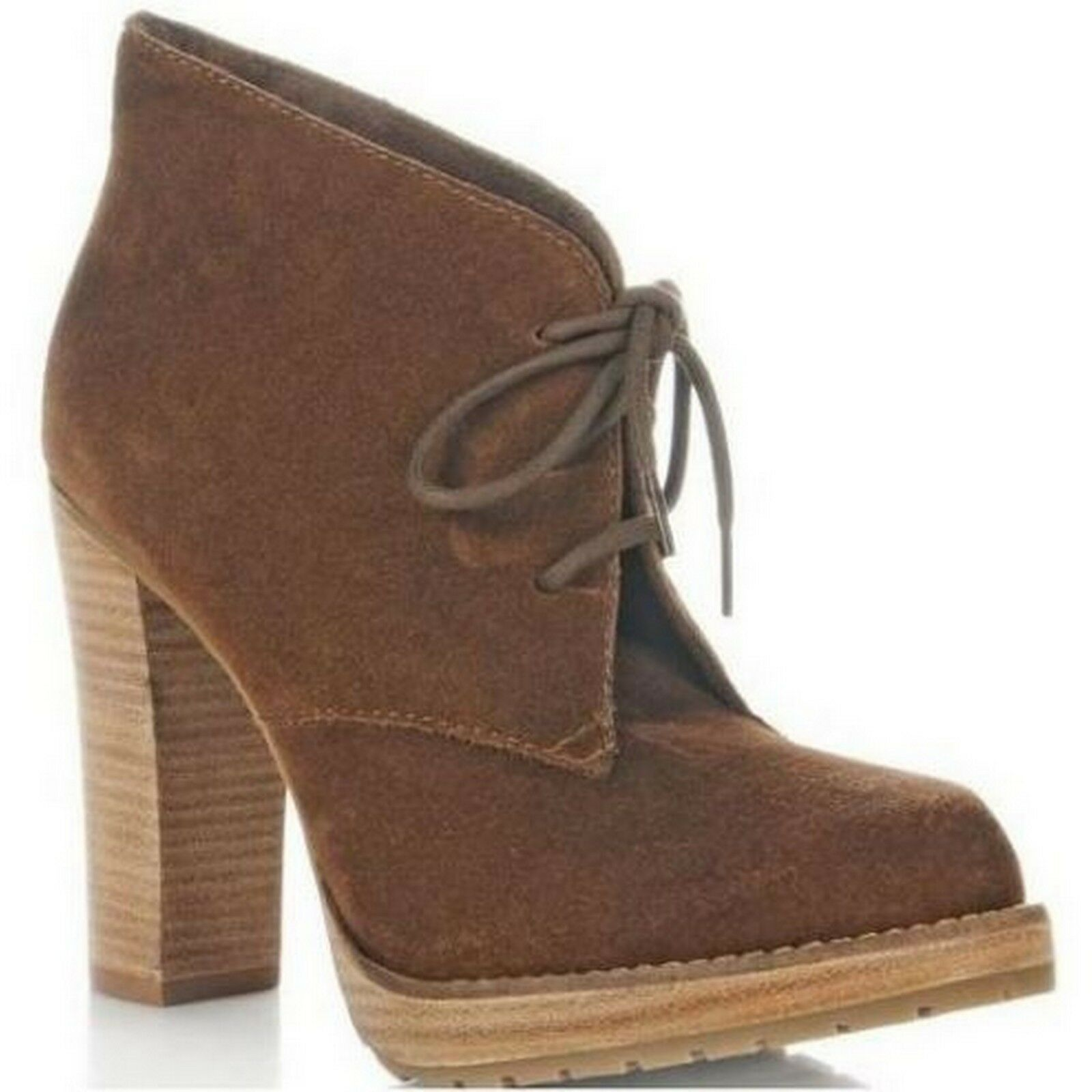 Steven by Steve Madden Baren Bown Suede Ankle Booties Boots 6, 10