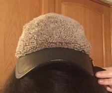 NWT - Rag & Bone Leather & Shearling Baseball Cap Hat SUPER LUXE $245 MSRP