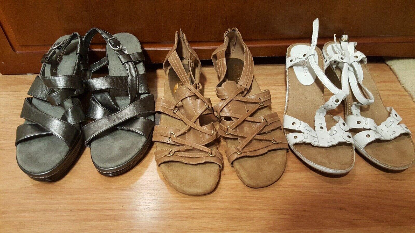 3 pares de aerosoles Tacón Alto Alto Alto Sandalia Zapatos Mujer Zapatos Talla 7.5  comprar marca