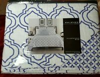 Max Studio Full/queen Quilt Morrocan Style White Blue 88x92
