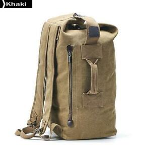 Travel-Bag-Mountaineering-Backpack-Male-Canvas-Bucket-Shoulder-Bags-Khaki