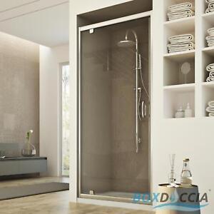 Box cabina doccia nicchia parete porta a battente bagno cristallo da 67 a 101 cm ebay - Box doccia su vasca da bagno ...