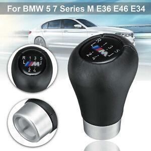 5-Speed-Gear-Shift-Knob-Genuine-Leather-Car-For-BMW-5-7-series-M-E36-E46-E34