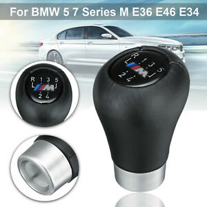 5-Gang-Schaltknauf-Schalthebel-Fuer-BMW-5-7-Series-M-E36-E46-E34-Schwarz