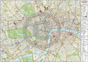 image is loading london central street wall information map laminated encapsulated