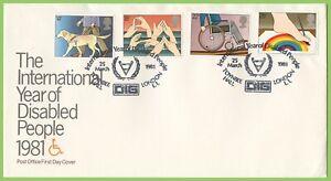 G-b-1981-discapacitados-Set-De-Oficina-de-correos-de-primer-dia-cubierta-Dig-Londres