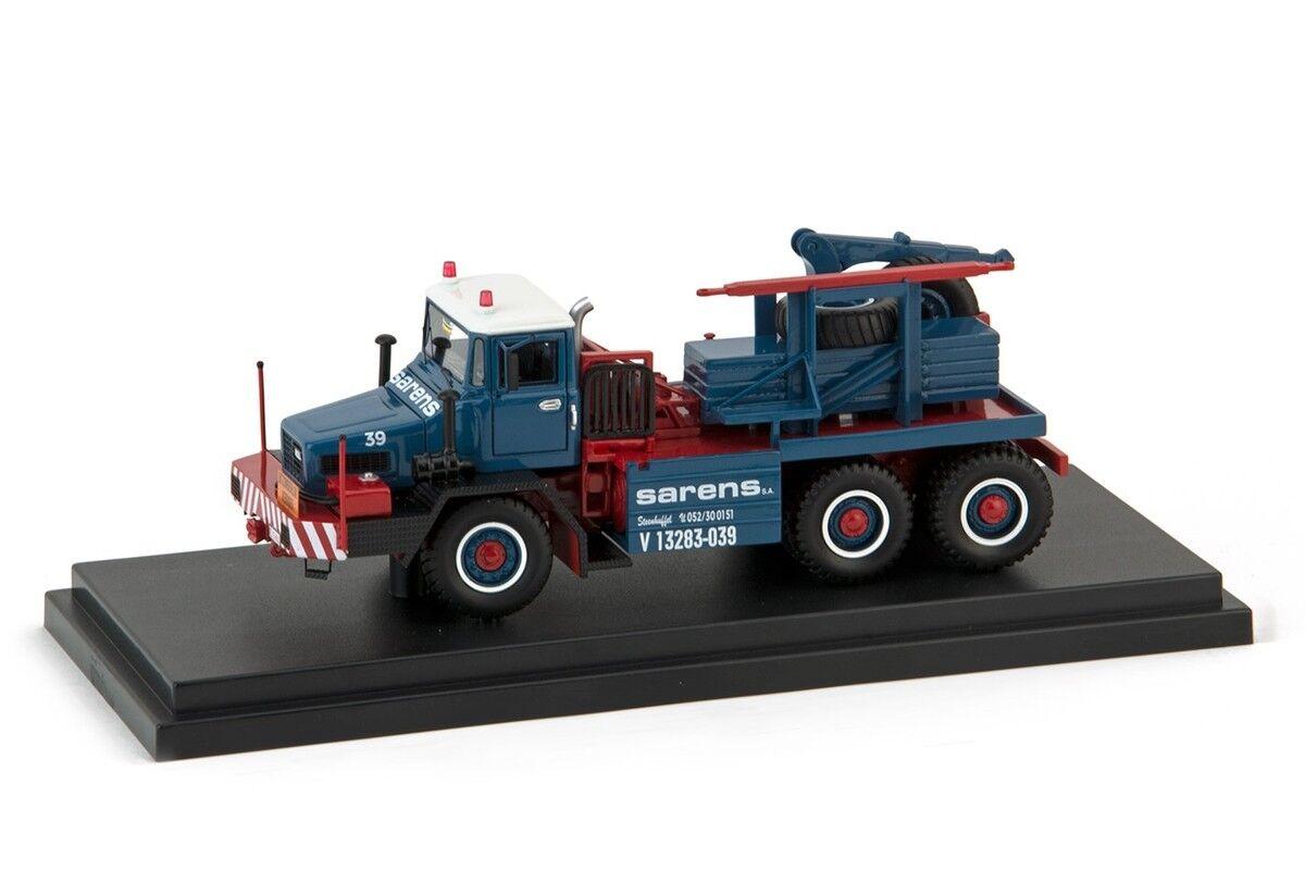 IMC20-1034 - Camion avec boite présentoire Mol Sarens Group 6x6  - 1/50