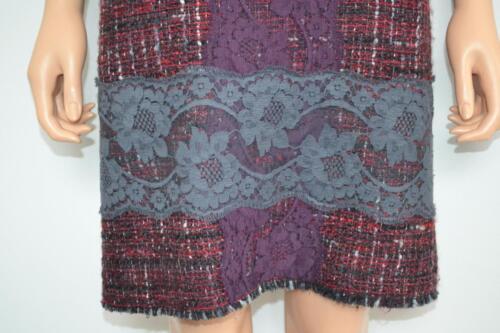 Gabbana grijs jurk Dolce 44 kant bordeaux wol Mouwloze Rood Maat van xAAgH6