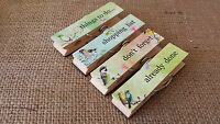 Vintage Chic Magnetic Memo Wood Pegs Paper Clips Shabby Fridge Magnet Magnets