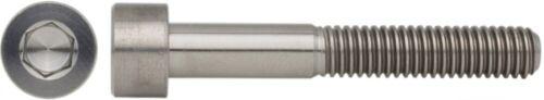 Zylinderschraube DIN 912 Titan Grade 5 Innensechskant Ø M1 bis M12