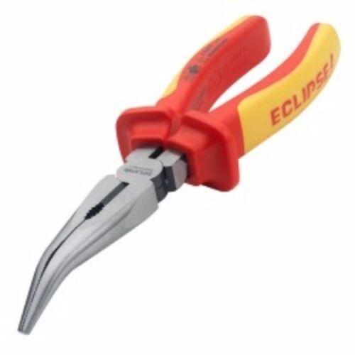Eclipse VDE Pince à long nez tordu électrique électrique Pince 200 mm 8 in environ 20.32 cm