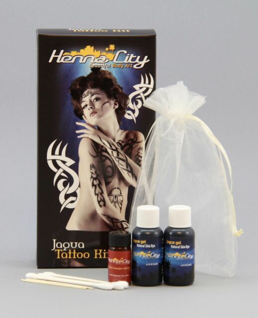 henna city all-natural jagua tattoo kit 1 oz for sale online | ebay