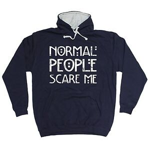 Normal-People-Scare-Me-HOODIE-hoody-birthday-gift-present-fashion-nerd-geek-top