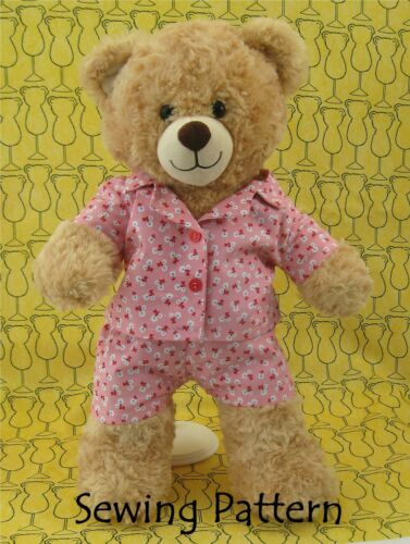 Sewing Pattern  dressmaking Teddy Bear Clothes  Pajamas fits build a bear