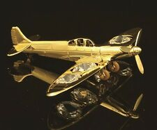 24K GOLD PLATED SPLITFIRE PLANE W/ SWAROVSKI CRYSTAL ELEMENTS FIGURINE/ORNAMENT