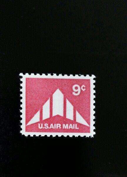 1971 9c Delta Wing Plane Silhouette, U.S. Air Mail Scot