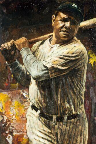 Babe Ruth Legend Art Wall Indoor Room Outdoor Poster POSTER 24x36