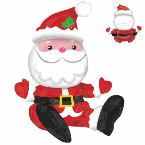 48cm x 53cm Super Shape Licensed Multi-Balloon Sitting Santa Merry Christmas