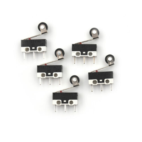 5xUltra Micro Switch Roller Lever Actuator Microswitch SPDT Sub Miniatureu  TDCA