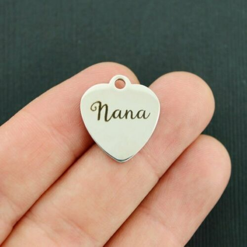 Quantity Options Exclusive Line Nana Stainless Steel Charm BFS3566 NEW12